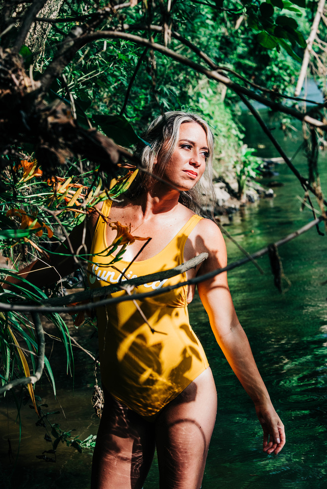 Sexy Water Shoot, Boudoir, Confidence Boost, Self Love Session, Swimsuit model, Philly Photographer, Philadelphia Photographer, Delaware Photographer, Get wet, Portrait Session, Brandywine Creek